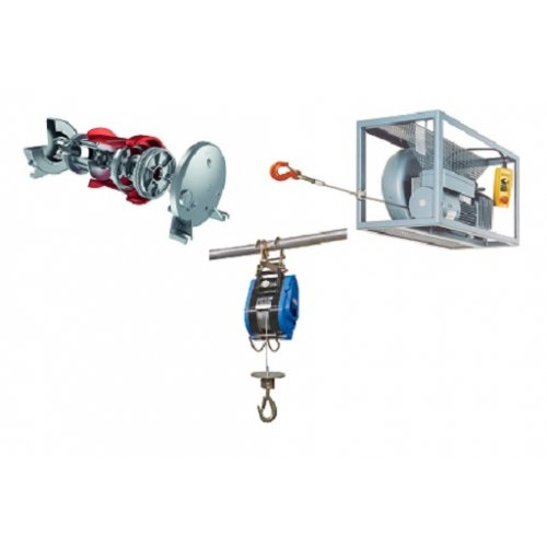 Electric pull winches and hoist winches