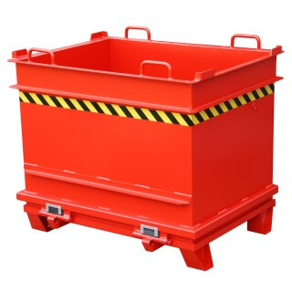 Baustoffcontainer BC 1000, lackiert, Feuerrot